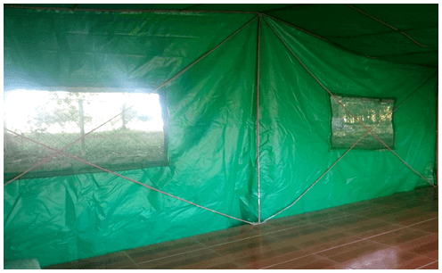 Newly Replaced Tents - From blue to green